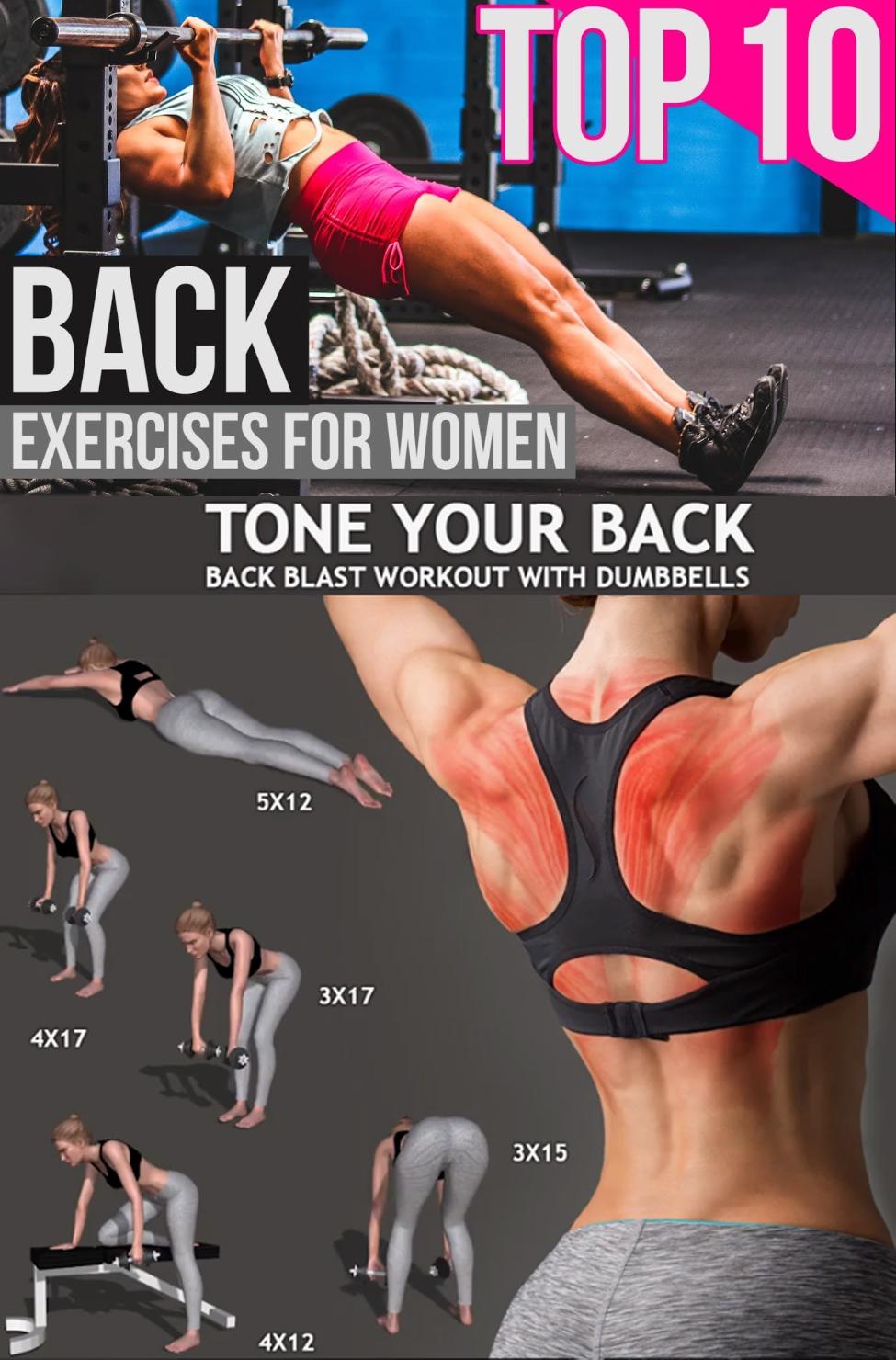 10 BACK EXERCISE FOR WOMEN