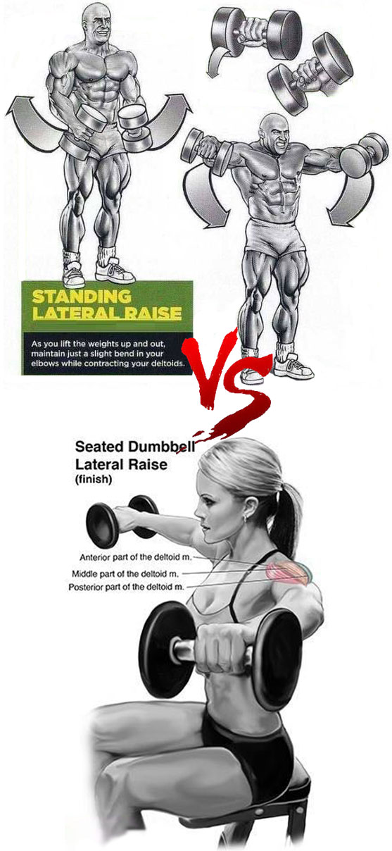 Standing lateral raise