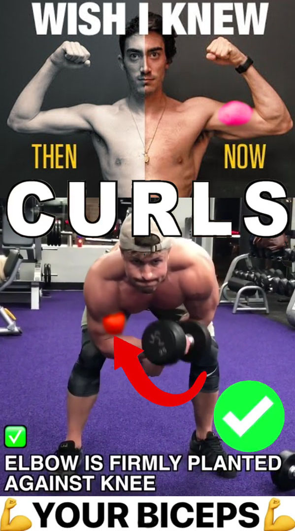 Bent over isolation curls