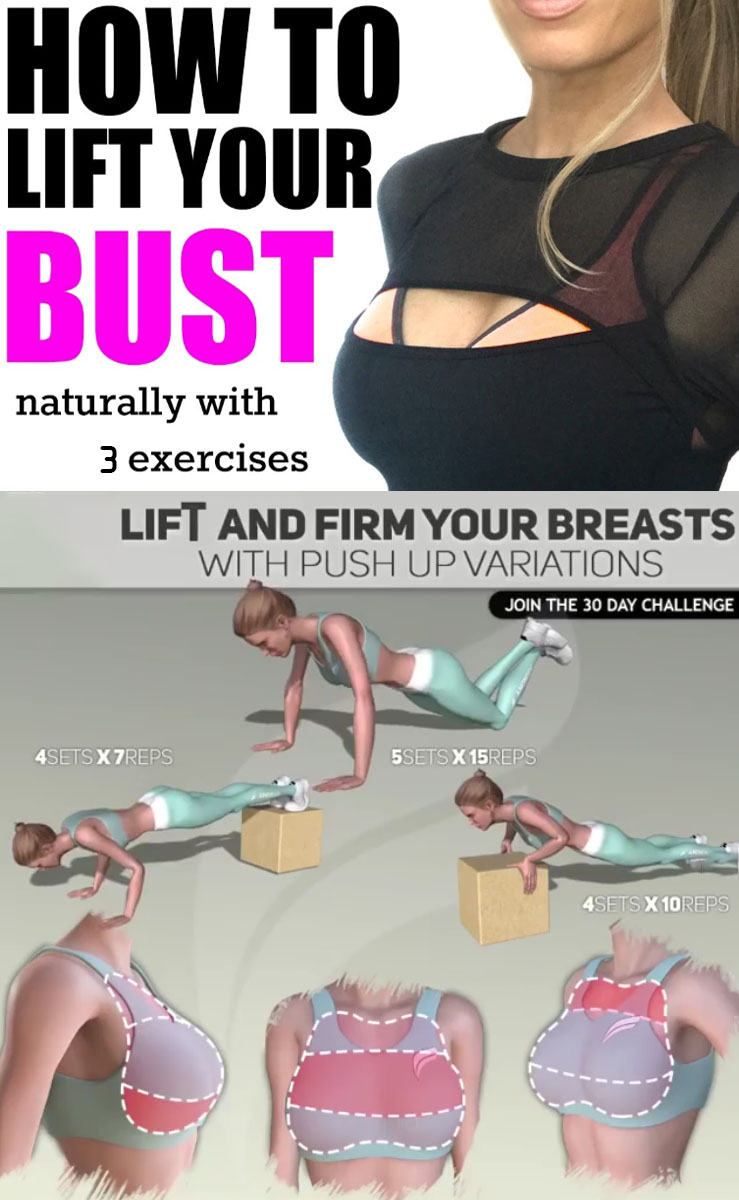 Lift and firm your breasts with push-ups variations
