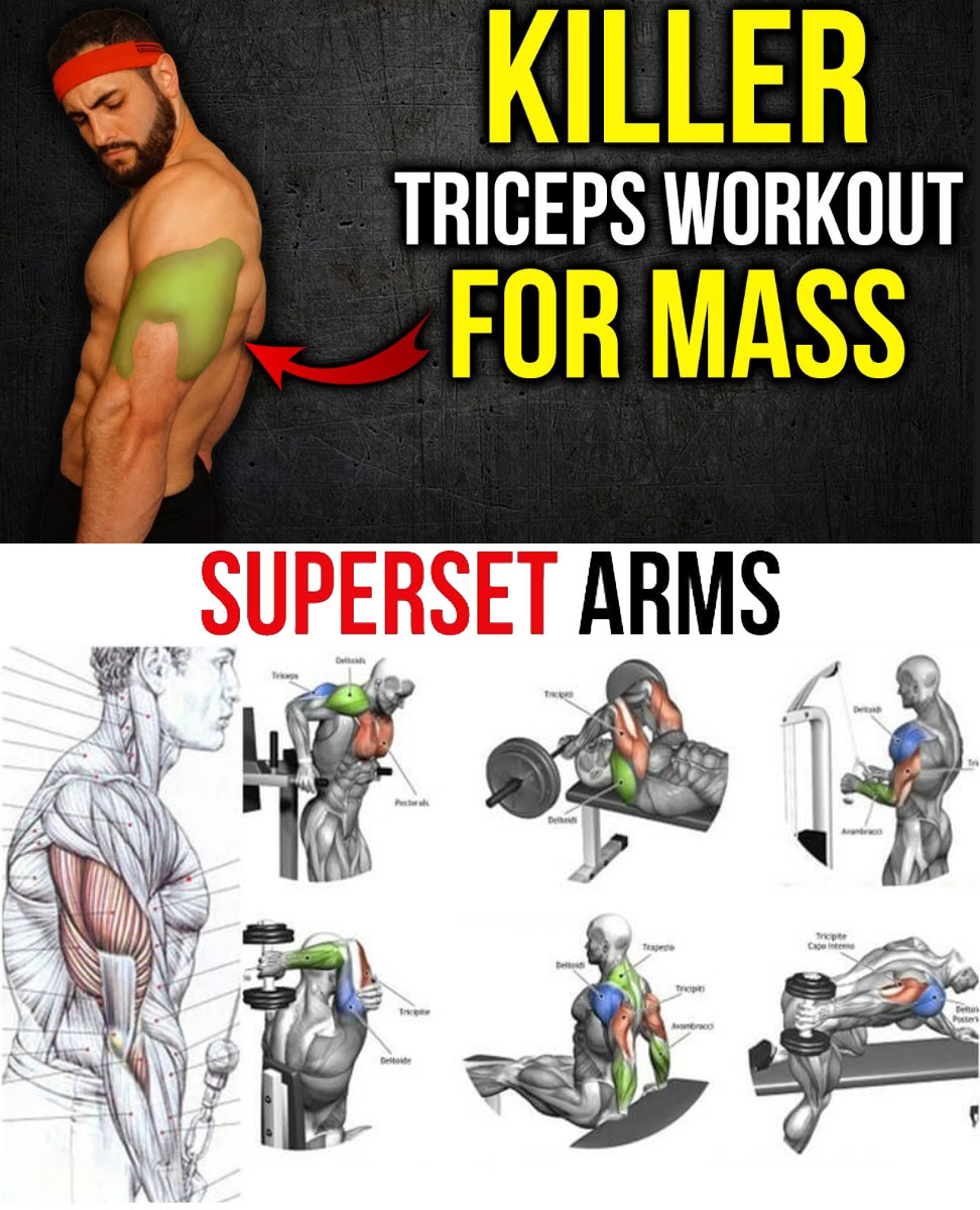 TOP 5 KILLER TRICEPS WORKOUT | SUPERSET ARMS