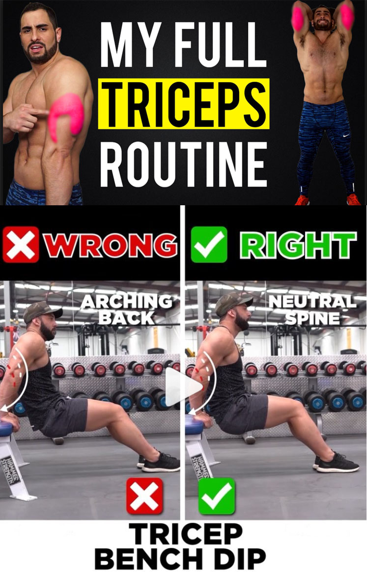 TRICEP DIPS WRONG VS RIGHT