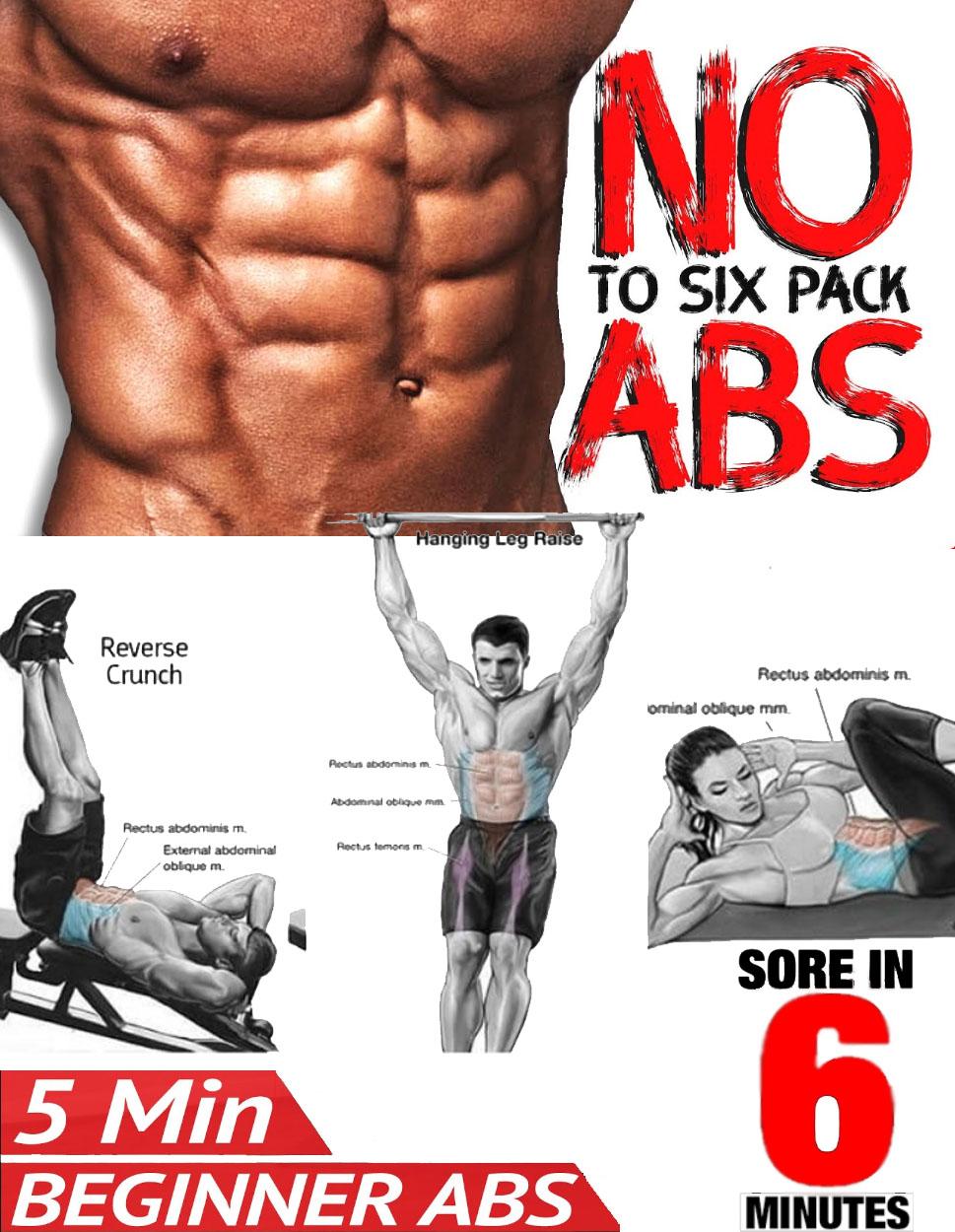 6 Pack Abdominal | 5 Min Begginer ABS