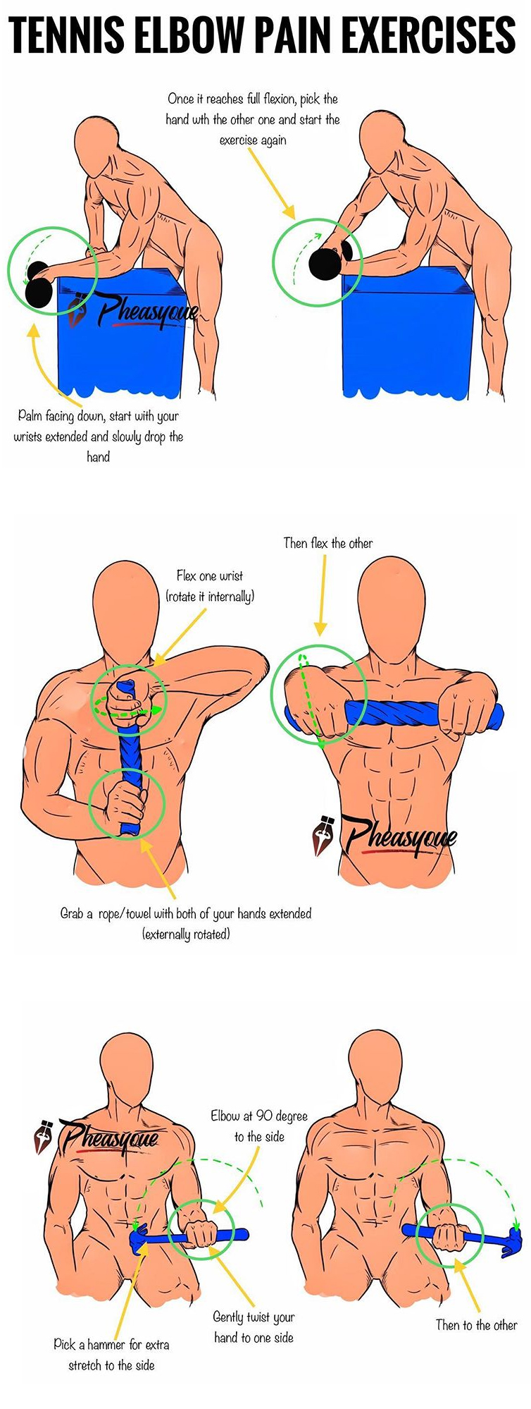 3 TENNIS ELBOW EXERCISES
