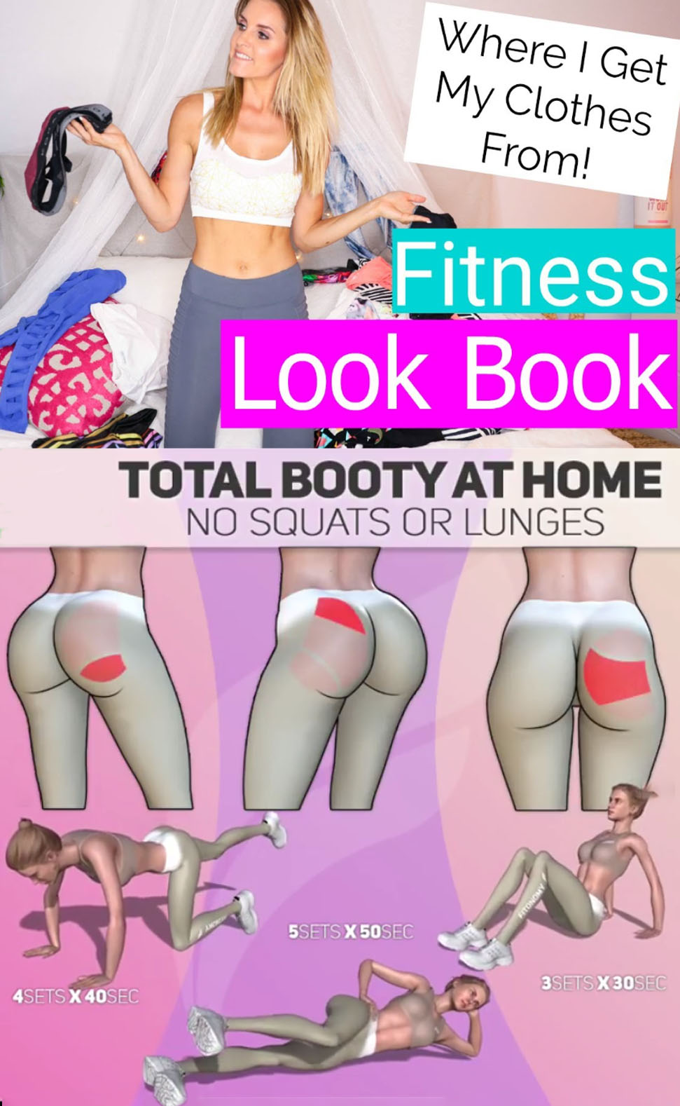 TOTAL BOOTY AT HOME NO SQUATS OR LUNGES