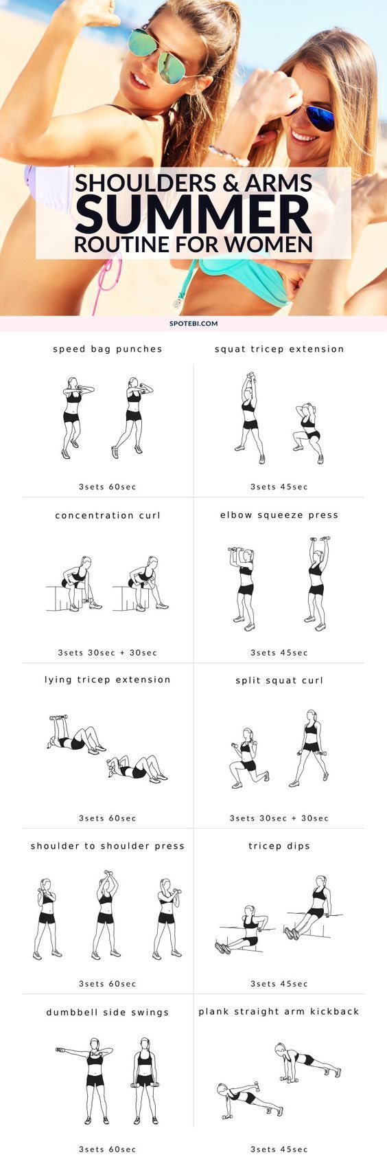 SHOULDERS AND ARMS WORKOUT FOR WOMEN