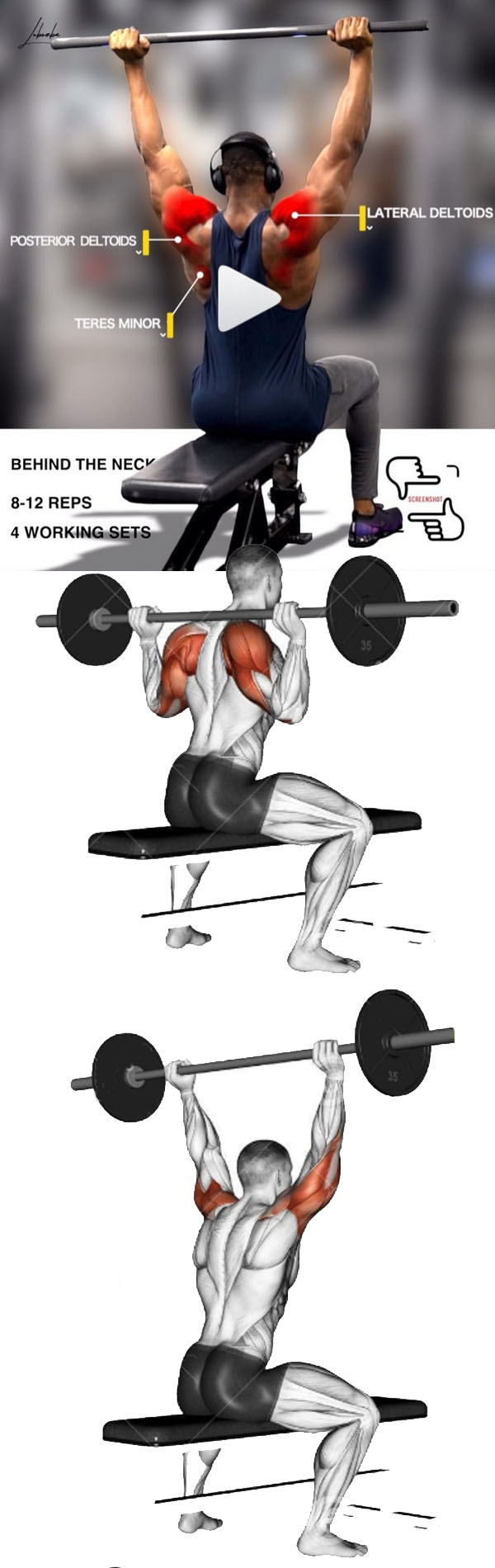 Behind The Neck Press (Smith Machine)