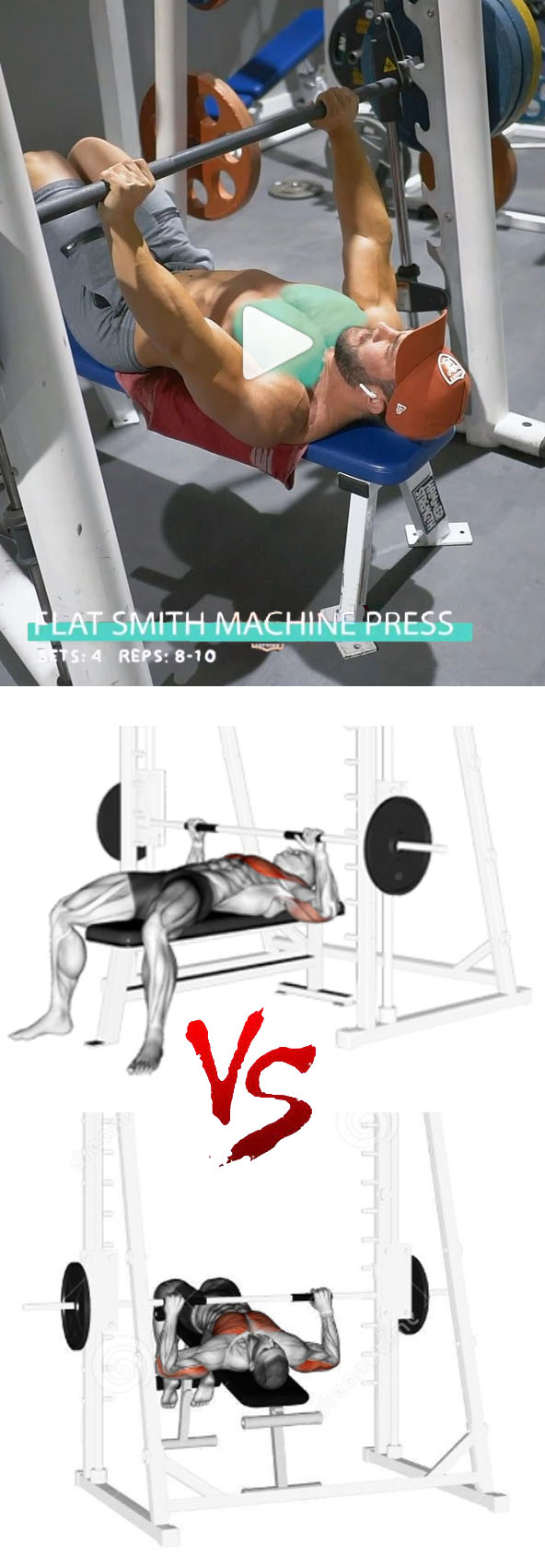 Smith Machine Chest Press
