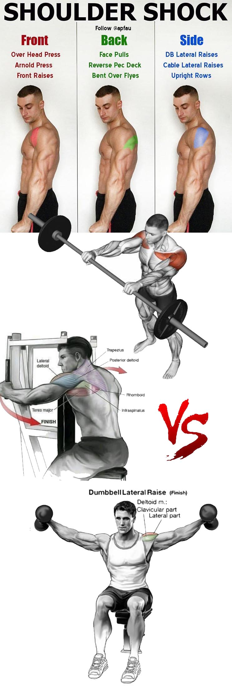 SHOULDER SHOCK | FRONT | BACK | SIDE SHOULDERS
