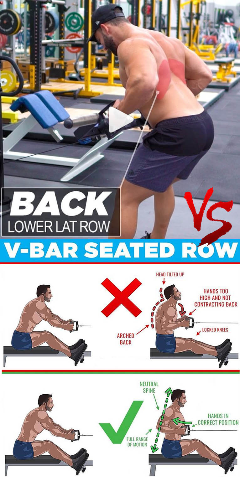 CABLE ROW VARIATION VS V-BAR SEATED ROW