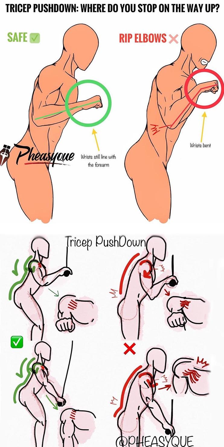 HOW TO TRICEP PUSHDOWN