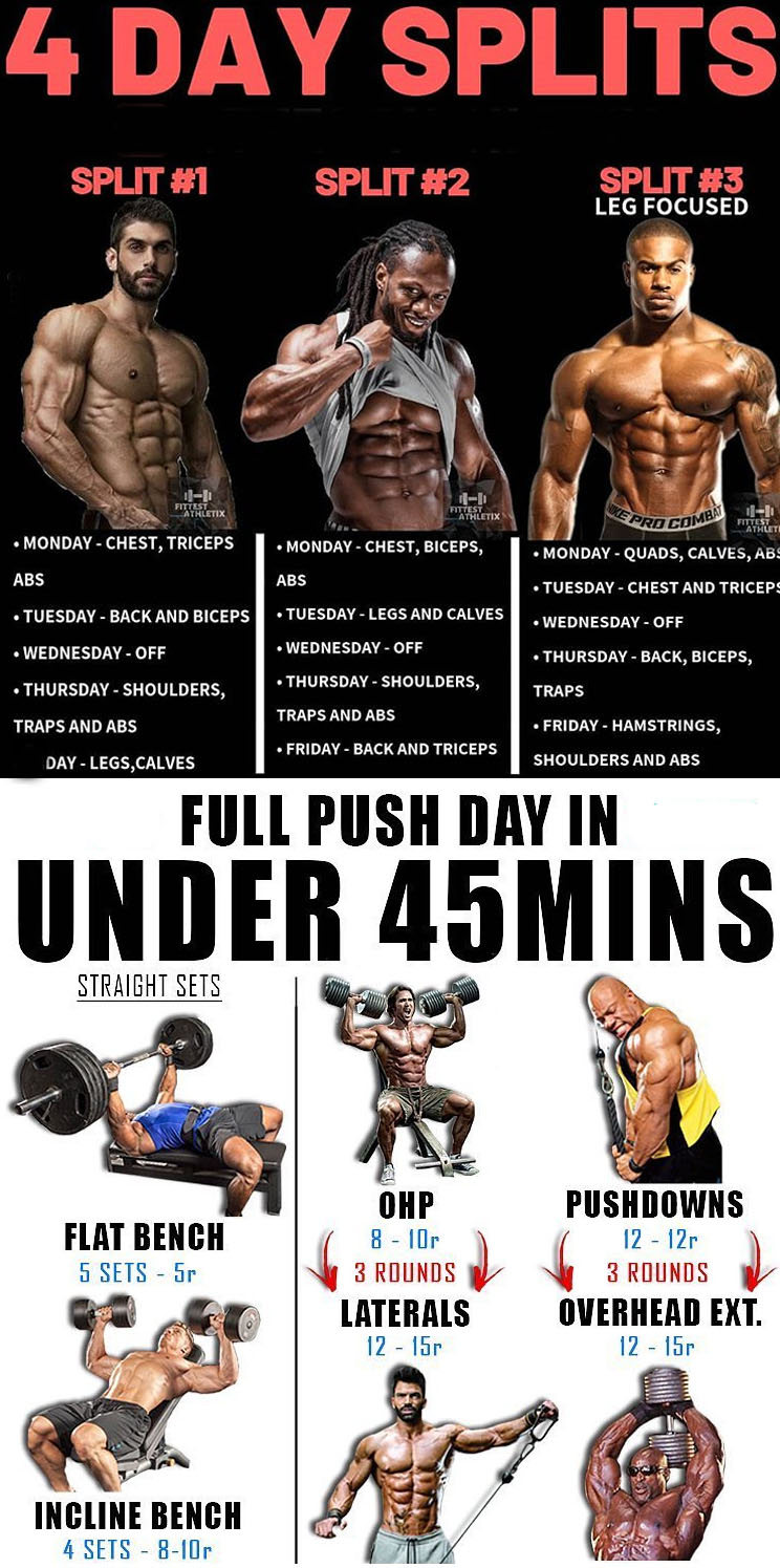 FULL PUSH DAY IN UNDER 45 MIN