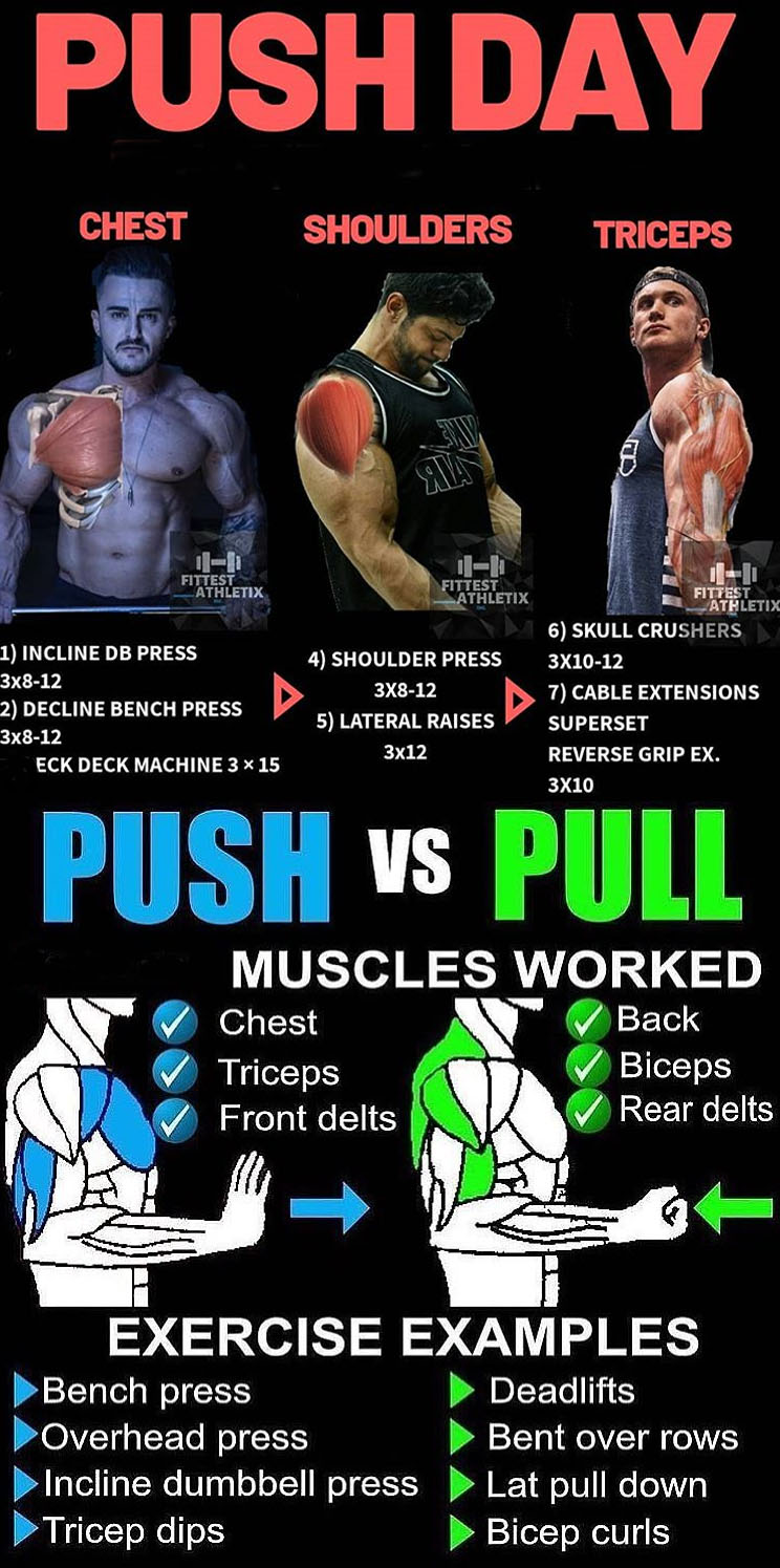 PUSH DAY   PULL DAY