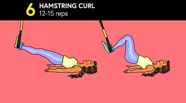 Full-Body Workout with TRX Hamstring Curl