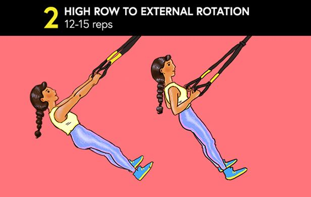 Full-Body TRX Workout - High Row to External Rotation