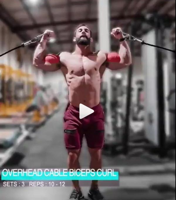 Overhead Cable Biceps Curl