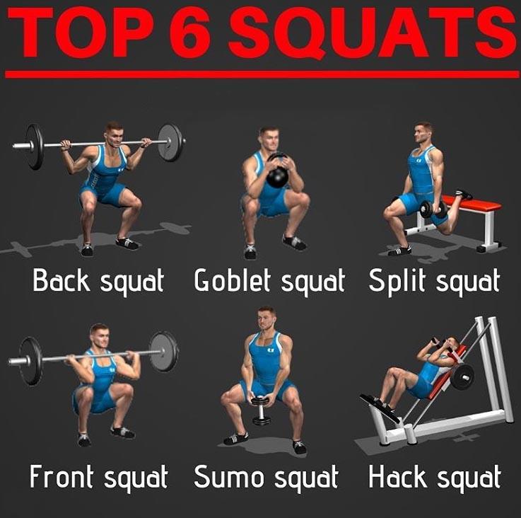 TOP 6 SQUATS EXERCISES