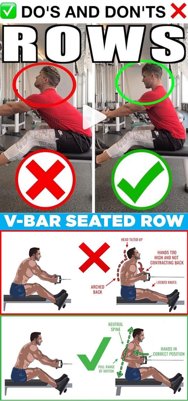 how to v bar seated row