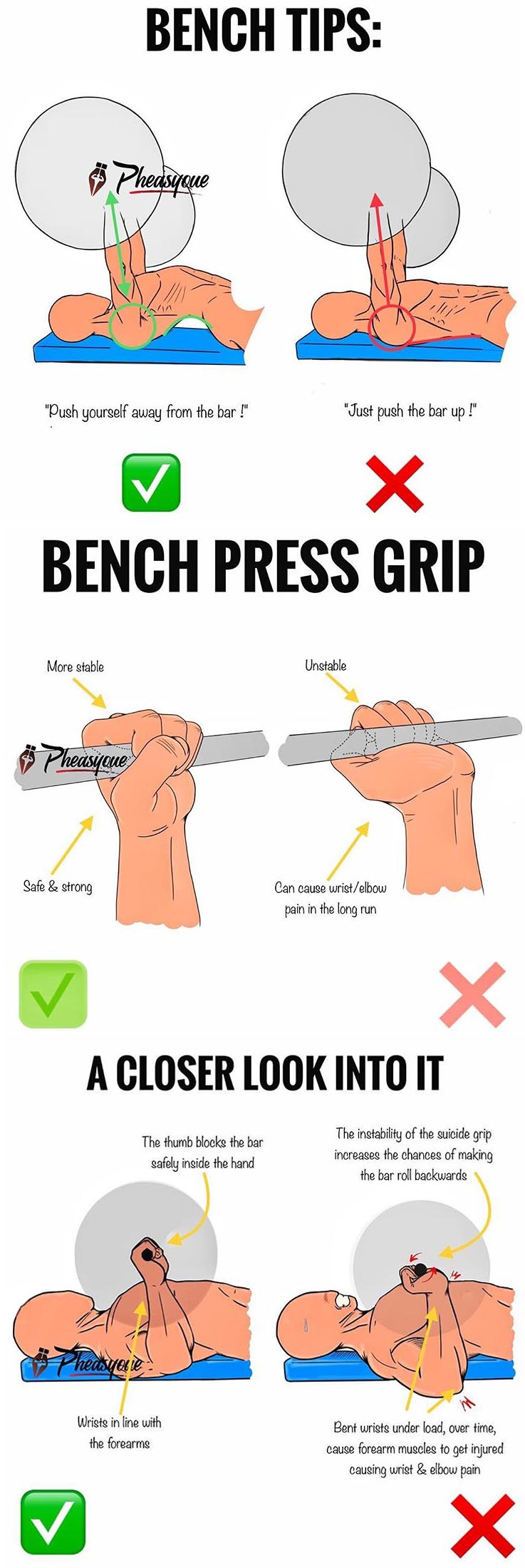 BENCH TIPS