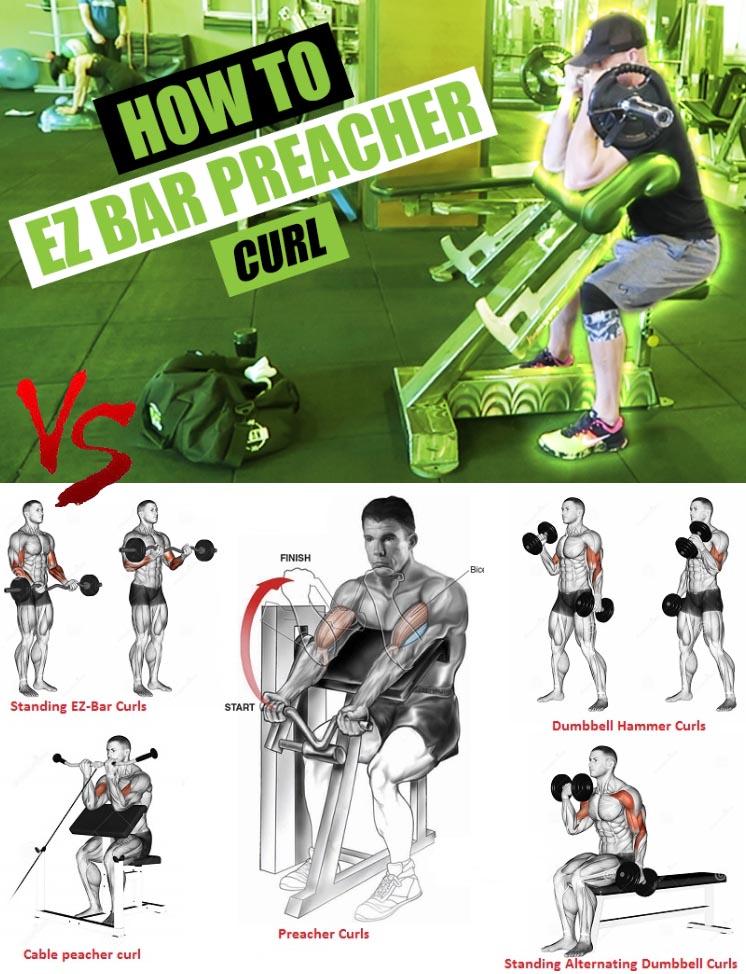 How to EZ Bar Preacher Curl