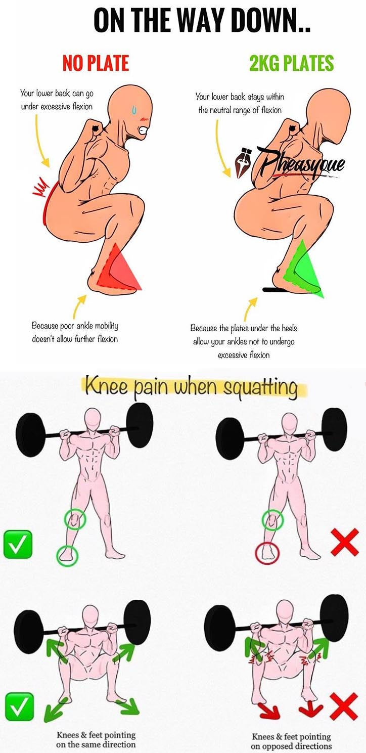 Knee pain Squatting