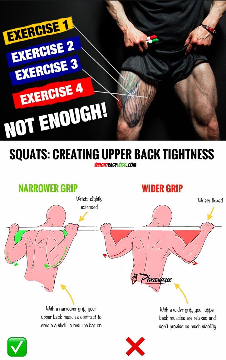 CREATING UPPER BACK TIGHTNESS WHEN SQUATTING