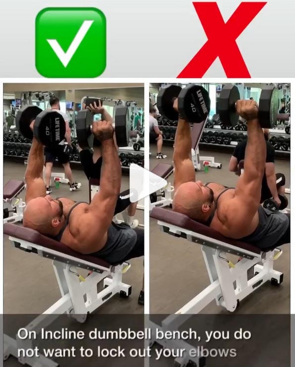 Incline Dumbbell Press Right & Wrong