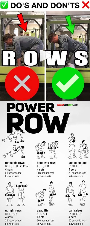 ROW EXERCISES