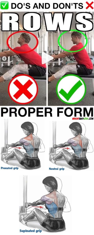 Row Back Variation Proper Form