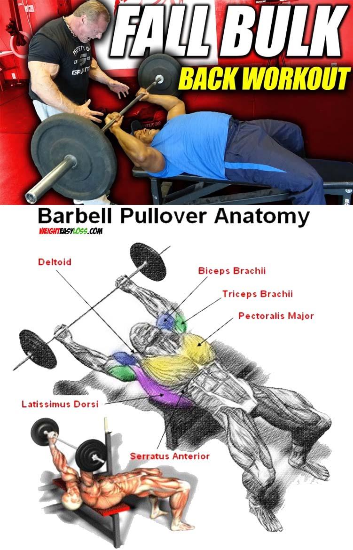 BARBELL PULLOVER