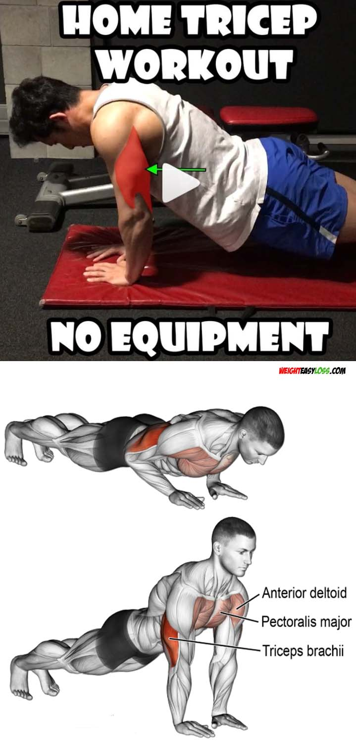 Push up triceps workout