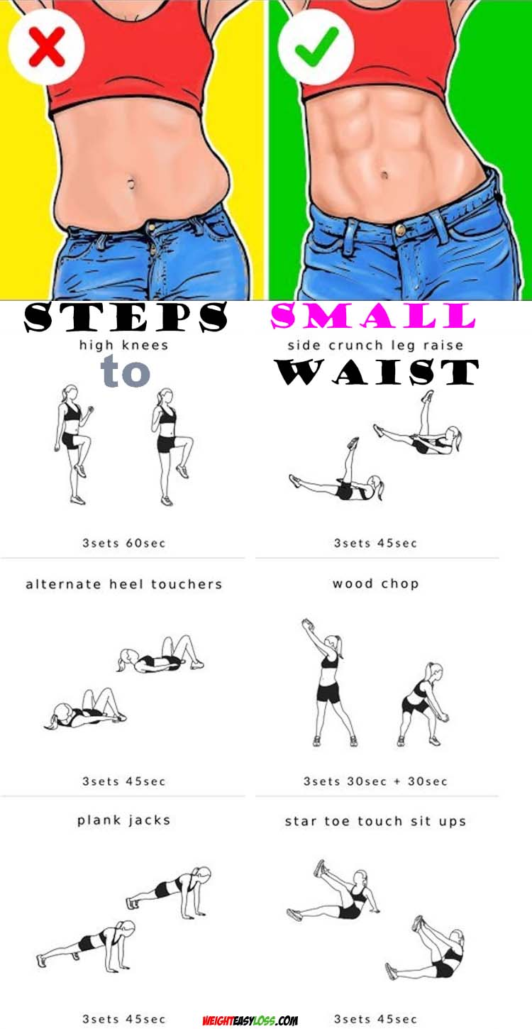 Steps to Small Waist