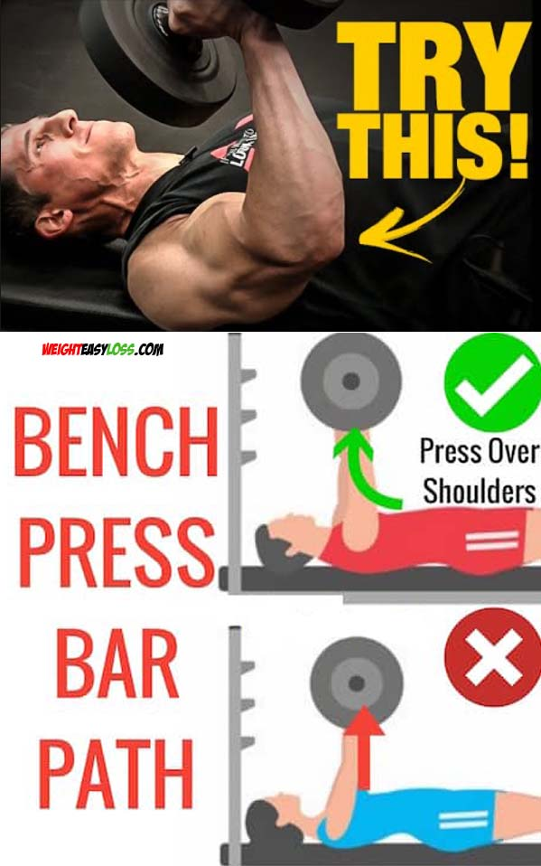bench press and barbells
