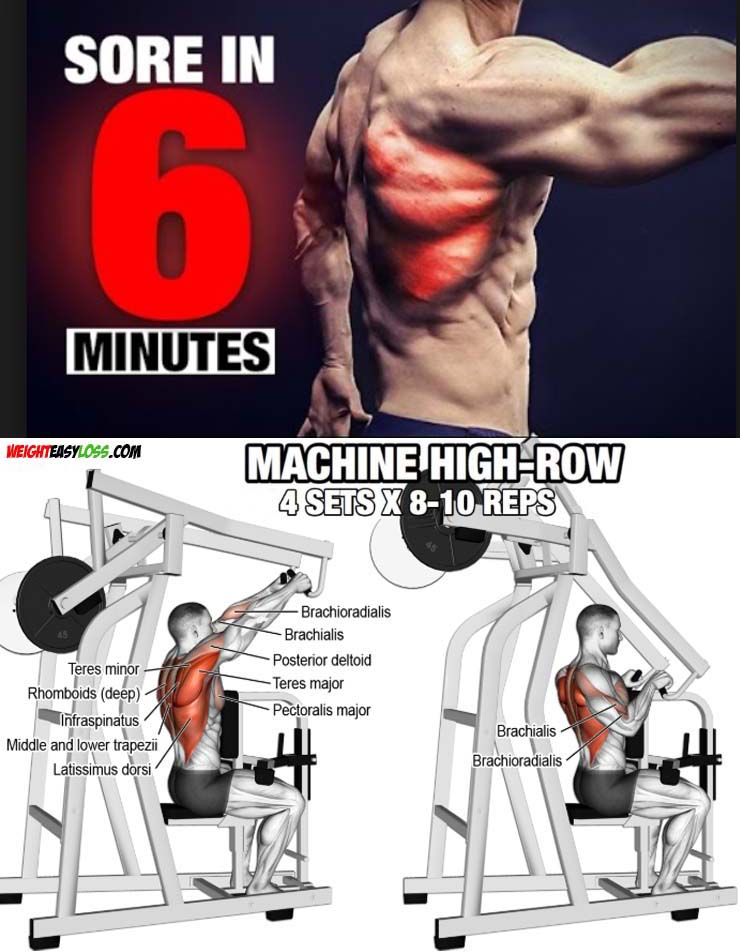 Machine High Row