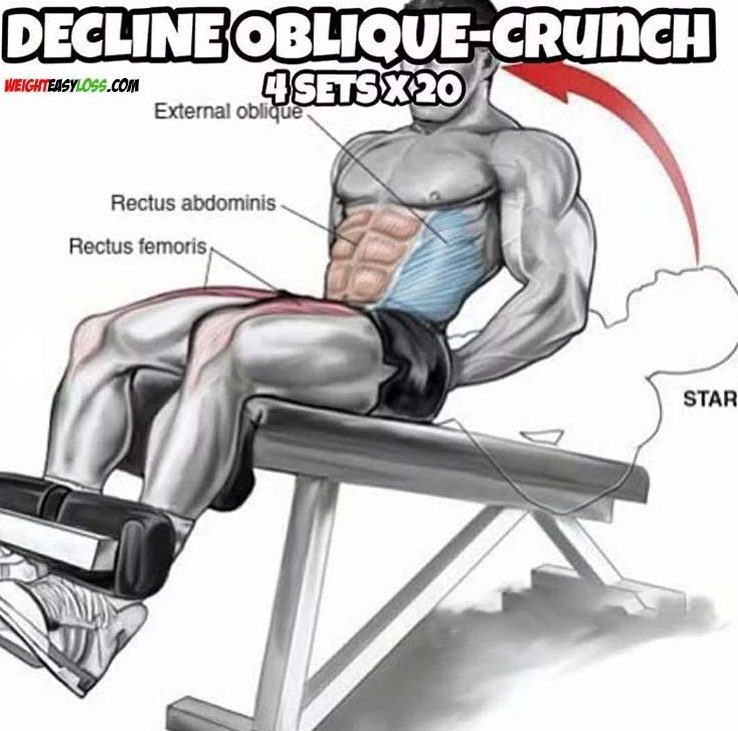 how to do decline oblique-crunch