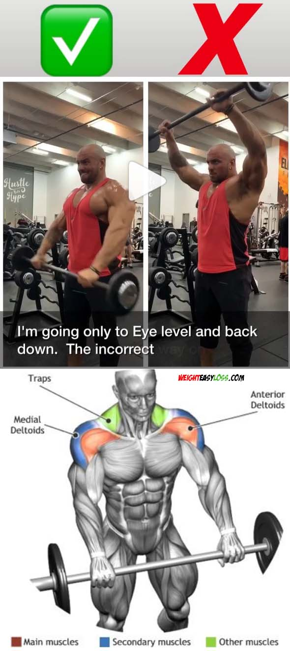front barbell raise
