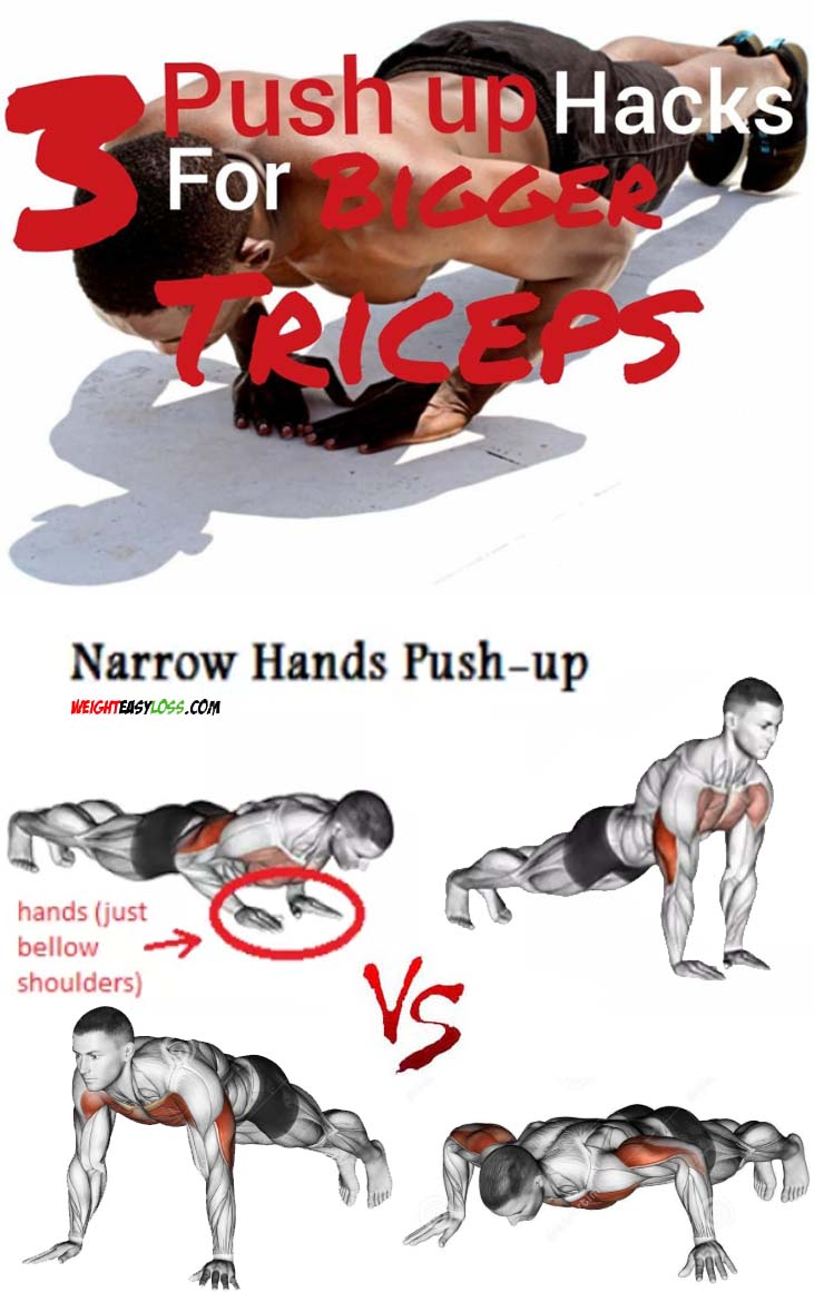 Triceps Pushups for Bigger