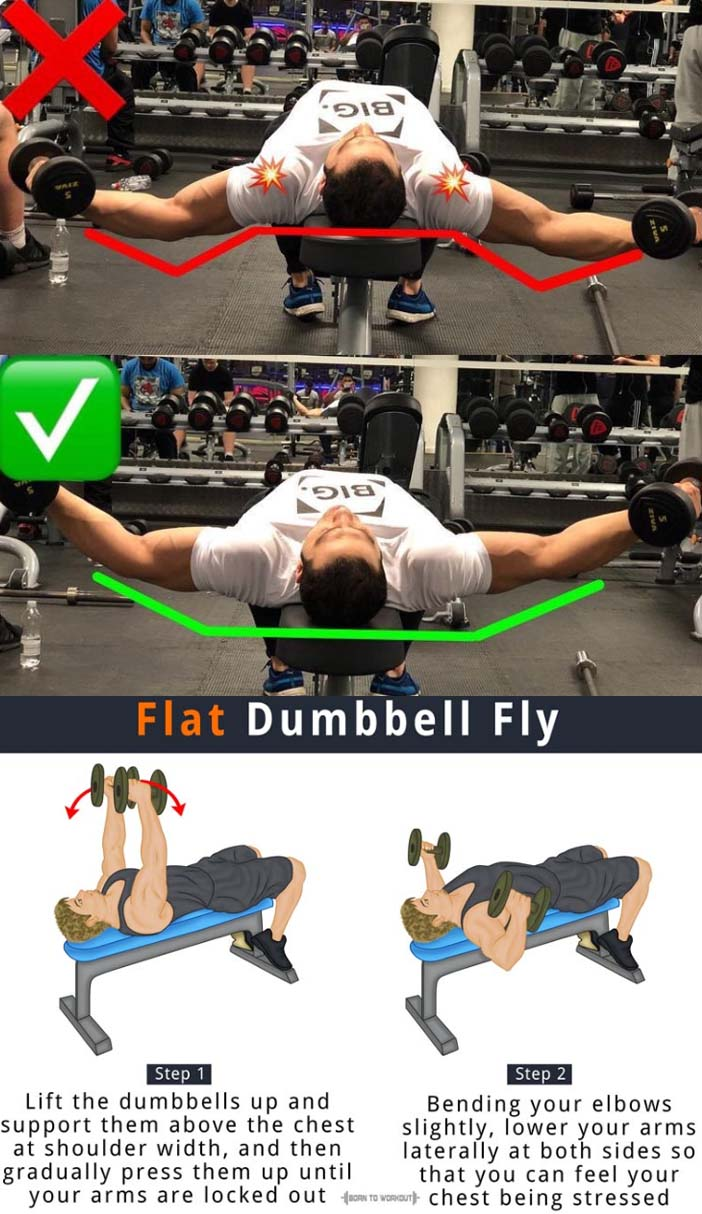 Flat Dumbbell Chest Flys