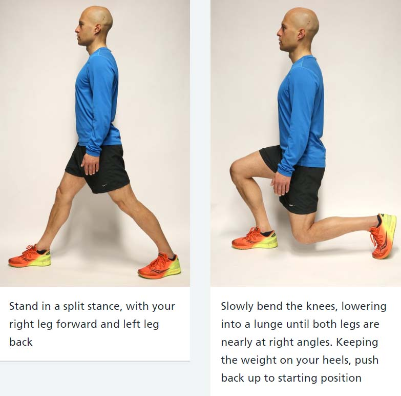 Lunges: great for firm bums and thighs