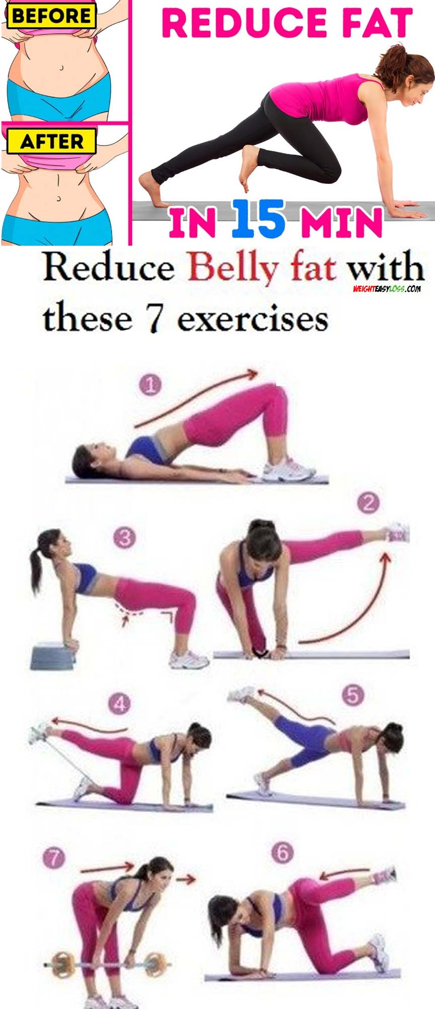 Before & After Belly Fat Exercises