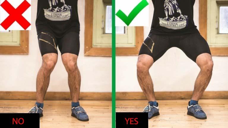 squat leg position