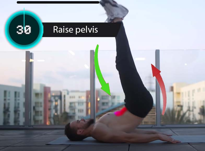 Abs Pump with Raise pelvis