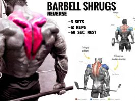 how to do reverse barbell shrugs
