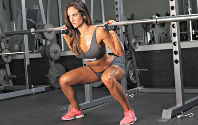 Squatting with a barbell