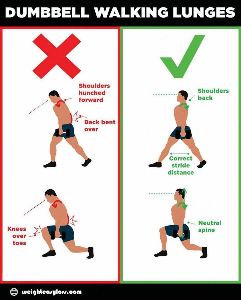Lunges when walking