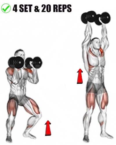Dumbbell Push Press exercises