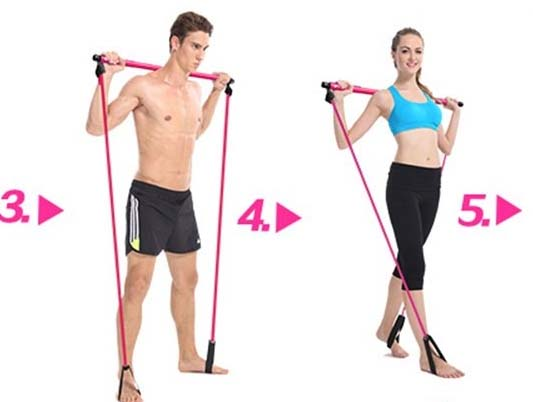 Elastic band exercises for body loss weight