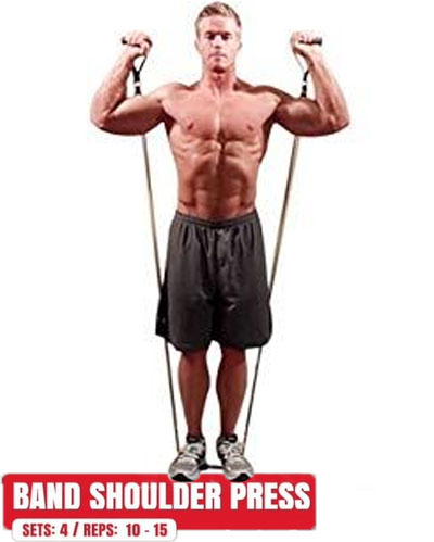 How to Band shoulder press