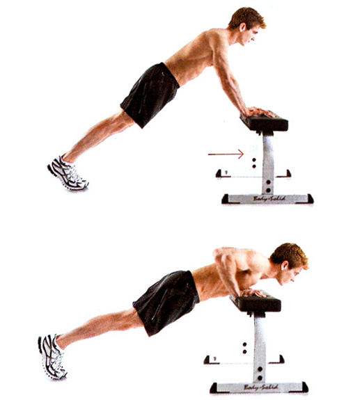 how to do incline push-up