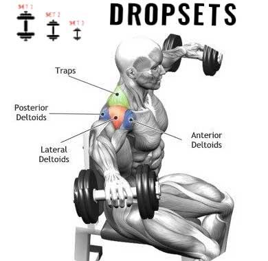 How to shoulder drop sets